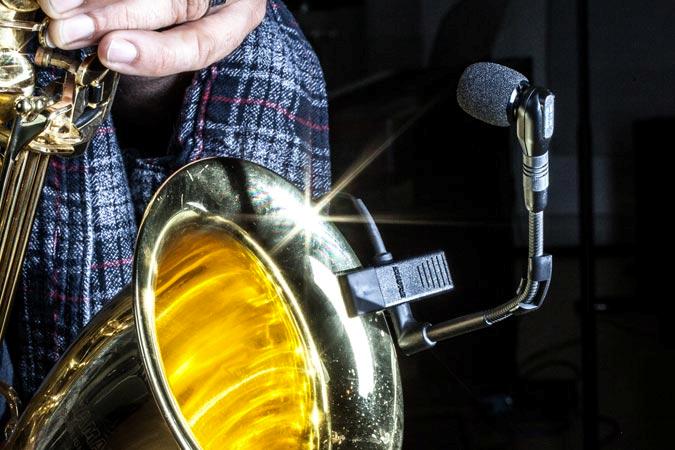 Micrófono, saxo, saxofón, saxofon,